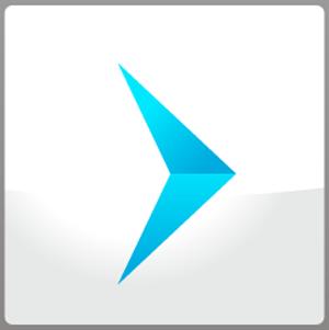 Arrow Design - hang glider (white button)