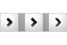 monotone angular button