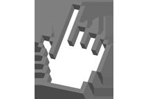 3D finger cursor
